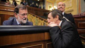 Mariano Rajoy y Rafael Hernando