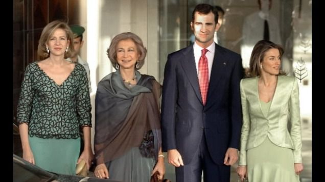 Cristina de Borbón junto a Felipe VI, la reina Sofía y la reina Letizia.