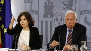 García Margallo y Sáenz de Santamaría, en la primera legislatura de Rajoy.