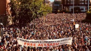 Manifestación en Pamplona.