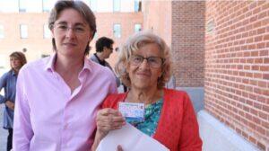 Manuela Carmena y Marta Higueras.