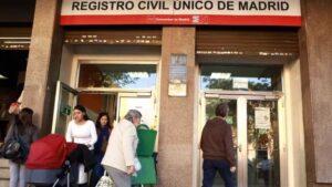Registro civil único de Madrid