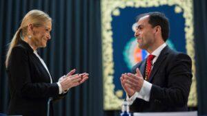 Cristina Cifuentes y el rector de la URJC.