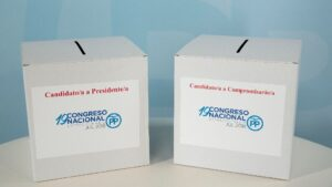 Urnas de las primarias del PP.