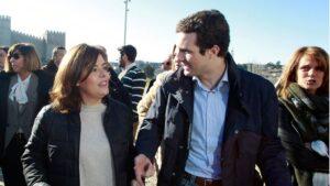 Soraya Sáenz de Santamaría junto a Pablo Casado