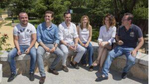 Pablo Casado en una reunión de NNGG de Madrid