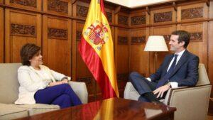 Pablo Casado y Soraya Sáenz de Santamaría