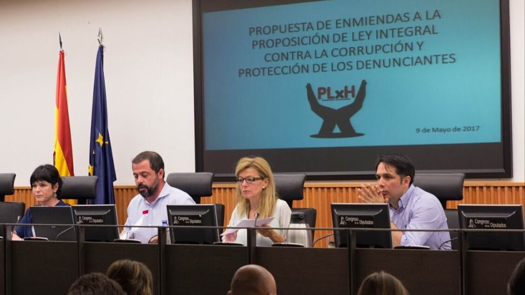 Miembros de la plataforma de denunciantes de corrupción