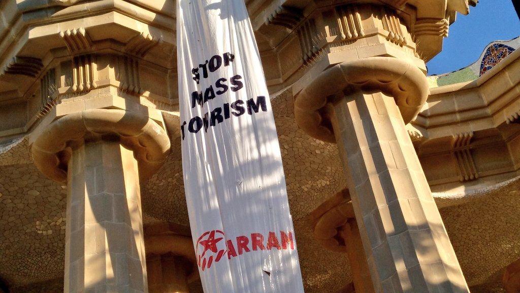 Protestas contra el turismo masivo en Barcelona.