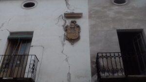 Daños del terremoto en Lorca.