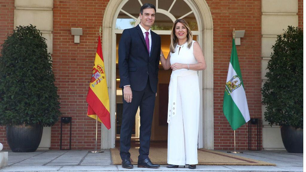 El presidente del Gobierno, Pedro Sánchez, junto a la presidenta de la Junta de Andalucía, Susana Díaz.