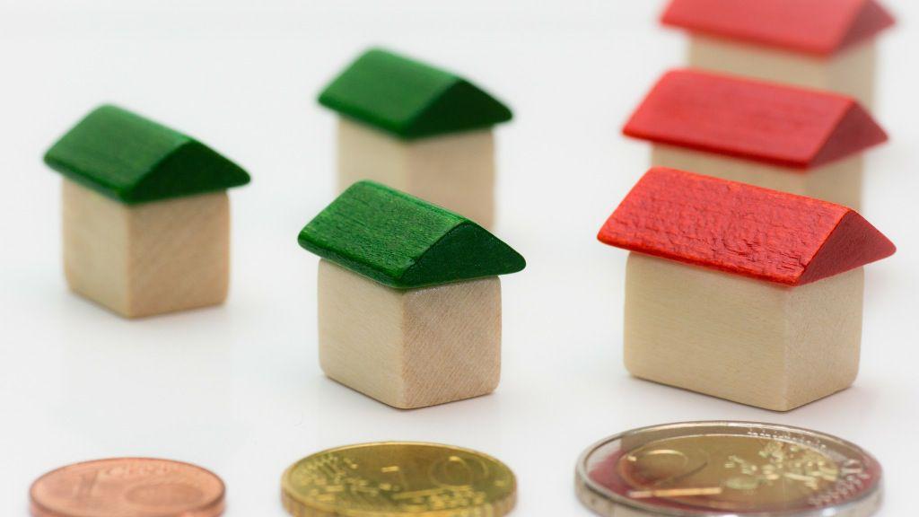 Hipoteca vivienda monedas dinero