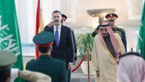 Rey Felipe y Rey de Arabia Saudí