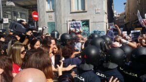 Pablo Iglesias con los pensionistas