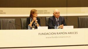 Rosario Perona y José María Medina en simposio int. enfermedades raras de Fundación Ramón Areces