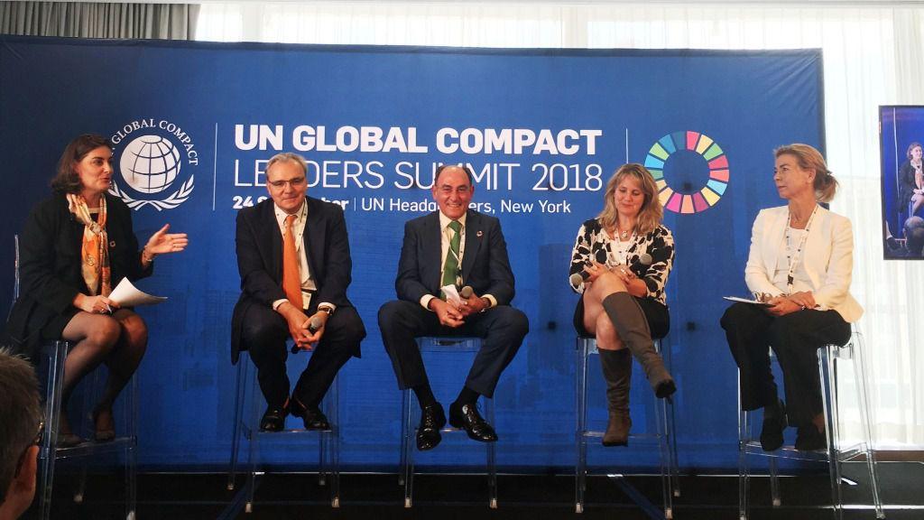 Ignacio Galán, en la Cumbre de Líderes 2018 de UN Global Compact