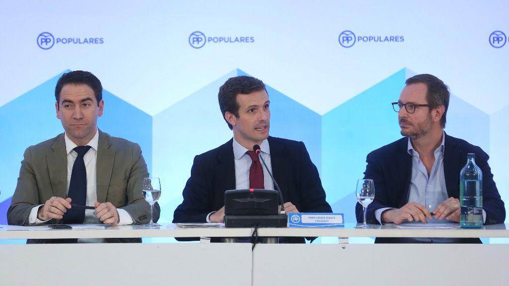 Pablo Casado, Javier Maroto y Teodoro García