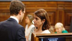 Adriana Lastra y Pablo Casado
