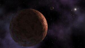 La comunidad científica se encuentra dividida con respecto a la interpretación de los movimientos de objetos que, como Sedna (ilustrado en la imagen), se mueven por los confines del sistema solar. ¿Su órbita está afectada por la presencia de un planeta de