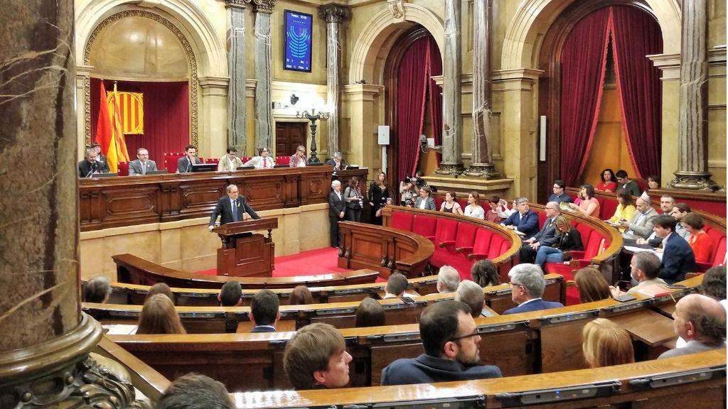 Quim Torrá en el Parlament