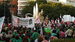Manifestación de la Marea Verde