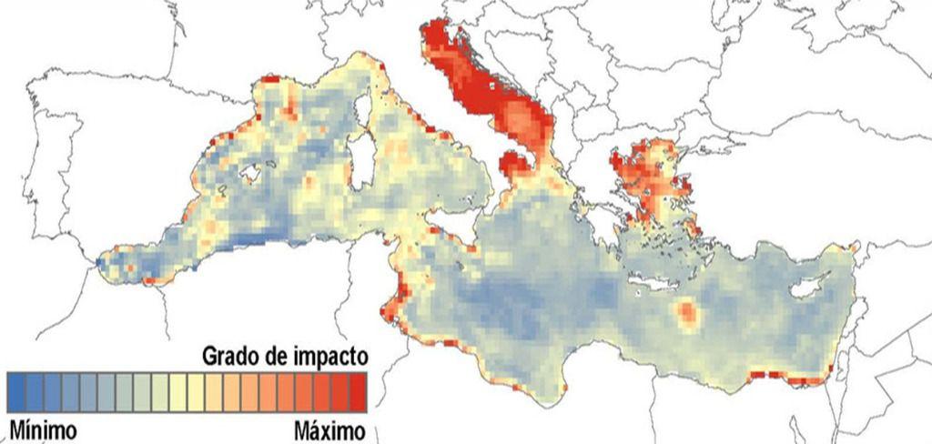 Actividad humana en el Mediterráneo