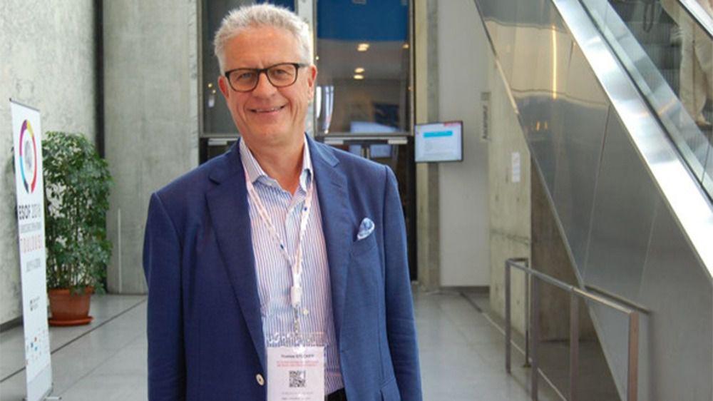 El científico Thomas Stocker durante su encuentro con Sinc en el EuroScience Open Forum (ESOF), celebrado en Toulouse (Francia) este verano.