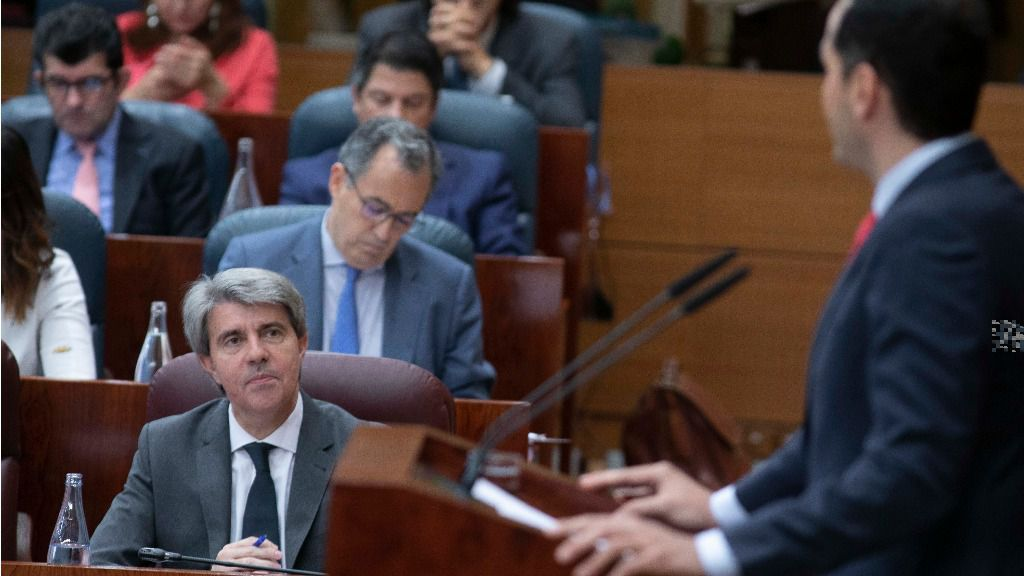Ángel Garrido e Ignacio Aguado en la Asamblea de Madrid