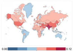 Mapa de contaminación mundial