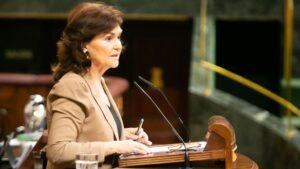 Carmen Calvo, vicepresidenta del Gobierno