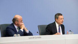 Mario Draghi y Luis de Guindos