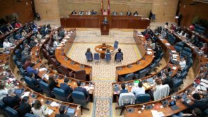 Ángel Garrido en la Asamblea de Madrid