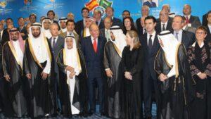 Rey Juan Carlos junto al Rey de Arabia