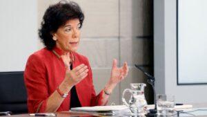 Isabel Celaá, ministra de Educación y portavoz del Gobierno