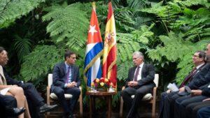 Pedro Sánchez y Miguel Díaz-Canel