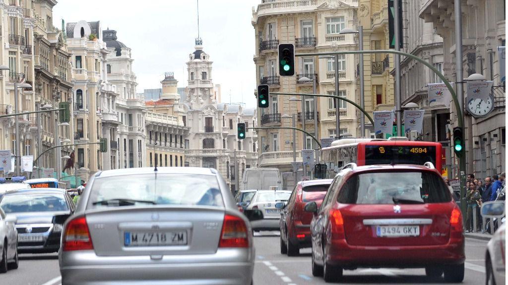 Tráfico en Madrid.