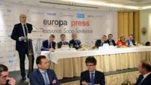 Enrique Ruiz Escudero, consejero de Sanidad de Madrid, en el desayuno informativo de Europa Press