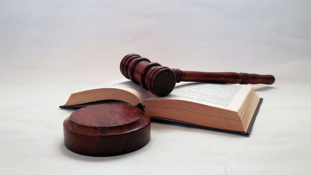Mazo de juez justicia
