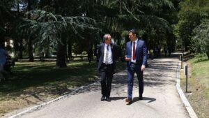 Pedro Sánchez y Quim Torra en su último encuentro en La Moncloa.