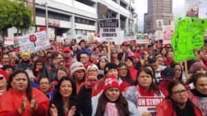 Huelga de profesores en Los Ángeles