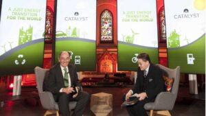 Ignacio Galán Galán en uno de los paneles del Foro Económico Mundial
