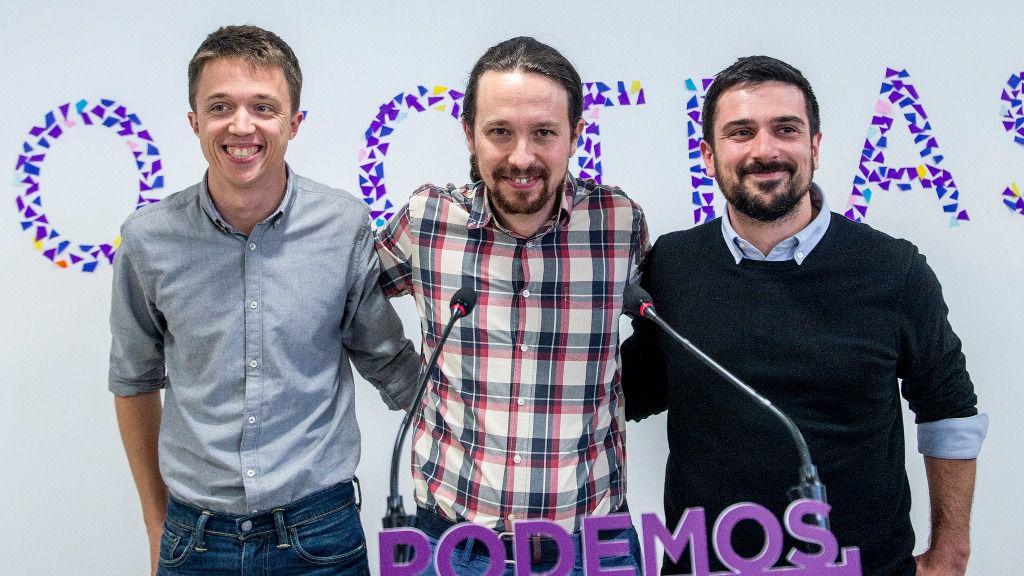 Pablo Iglesias, Íñigo Errejón y Ramón Espinar