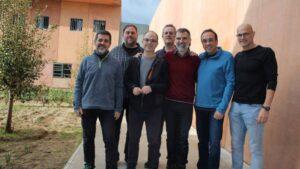 Jordi Sànchez, Oriol Junqueras, Jordi Turull, Joaquim Forn, Jordi Cuixart, Josep Rull y Raül Romeva