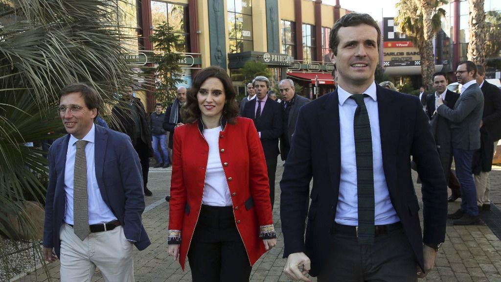 José Luis Martínez Almeida, Isabel Díaz Ayuso y Pablo Casado