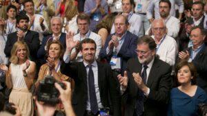 Pablo Casado, Mariano Rajoy y Soraya Sáenz de Santamaría.