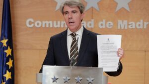 Ángel Garrido, presidente de la Comunidad de Madrid, presenta su recurso contra Madrid Central