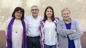 Montserrat Muñoz, Gaspar Llamazares, María Garzón y Teresa Aranguren