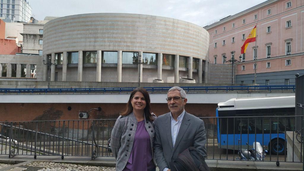 Gaspar Llamazares y María Garzón