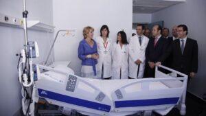 Esperanza Aguirre en la inauguración del Hospital de Torrejón