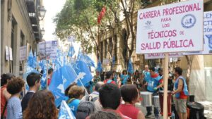 Manifestación técnicos de salud pública